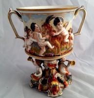 Antik gyonyoru capodimonte vaza