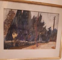 Mende Gusztáv festmény park részlet Sopron.