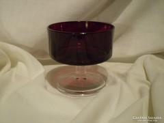 Luminarc rubinvörös desszertes pohár