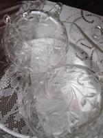 Antik csiszolt üveg készlet