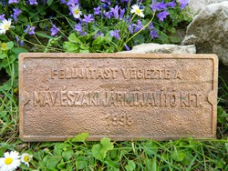 Régi MÁV bronz öntvény tábla, gyűjtői