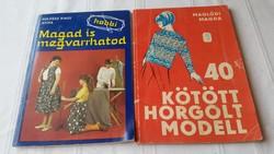 Magad is megvarrhatod, 40 kötött horgolt modell könyv eladó!