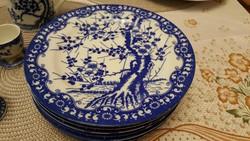 Japán, cseresznyevirágos, kék-fehér porcelán, hibátlan állapotban!