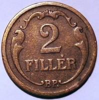 ★1932 Horthy 2 Fillér BP★Ritka!★