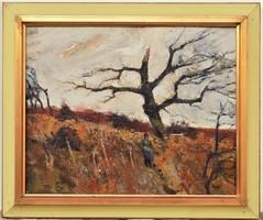 Bod László (1920 - 2001)Domboldal c. festménye 60x50cm EREDETI GARANCIÁVAL !