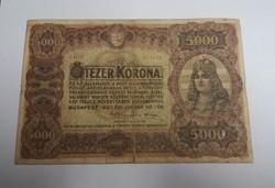 Ritka 5000 korona 1920.