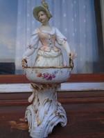 Antik 18.sz-i KPM porcelán hülgy kosárrar  1863-1780-től 24  cm
