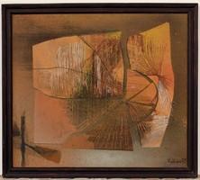 Gábor István (1944 - ) Nosztalgia c.Képcsarnokos festménye 87x77cm EREDETI GARANCIÁVAL !