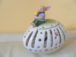 Villeroy & Boch porcelán mécsestartó (húsvét, nyúl)