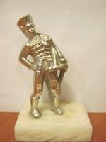 Huszár fém szobor