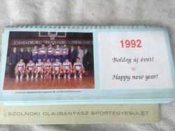 Szolnoki olajbányász asztali naptár 1992