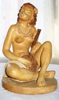 Tahiti lány - Gondos kerámia figura
