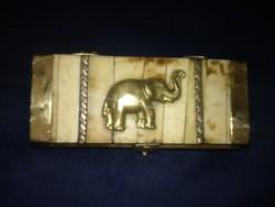 Elefántcsont díszdoboz, ritka antik  gyűjtői  darab