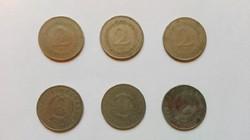 Régi 2.-Ft-os  1950,1952,  1960 évi  3.db   +1957 évi