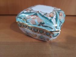 Különleges, csodaszép Zsolnay perzsa mintás bonbonier kis méretű, hibátlan