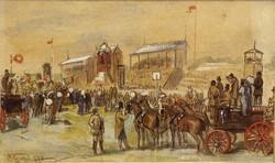 Geiger:Lóverseny és nézői ,1877,akvarell,tempera