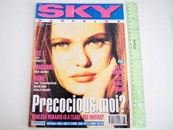 Sky magazin 1991/8 Vanessa Paradis Madonna Ice-T Schwarzenegger Prince Blur