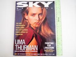 Sky magazin 1989/6 Uma Thurman The Cure Debbie Harry Robert Downey Jr Berenger