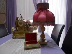 Szép régi ONIX éjjeli lámpa és egy ONIX fedeles doboz tároló egyben