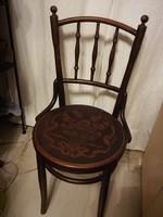 Gyönyörű virágmintás antik thonet szék