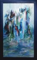"""""""Eső után"""" Eredeti kortárs absztrakt olajfestmény kerettel, Közvetlen a művésztől!"""