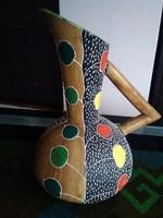 Különleges kézműves olasz kerámia korsó!