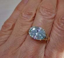 Csodás valódi 4.46ct Moissanite gyémánt arany gyűrű