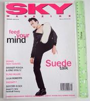 Sky magazin 1994/2 Suede Juliette Lewis Therapy Milla Jovovich Brand New Heavies Bridget Fonda