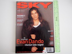 Sky magazin 1993/10 Evan Dando Blur Laura Dern Brad Pitt Patricia Arquette Maverick Soul Asylum