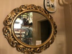 Arany  keretes ovális tükör