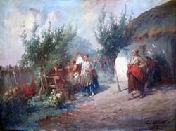 """Ács Ágoston ( 1889-1947 ) """" Derűs udvar """""""