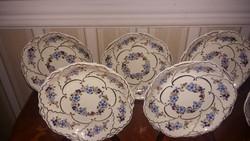 Zsolnay süteményes tányér 6 db