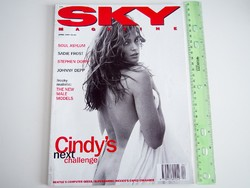 Sky magazin 1994/4 Cindy Crawford Soul Asylum Depp Dorff Sadie Frost Tyra Banks