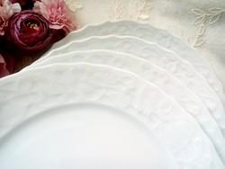 Mitterleich Bavaria fehér porcelán dombormintás tányérok 4db