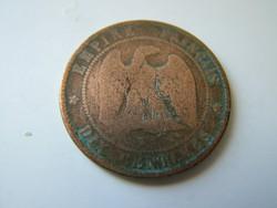 Dix Centimes III. Napoleon 1855 K