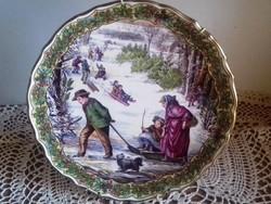 """Angol """"SPODE"""" porcelán falidísz 23.5 cm"""