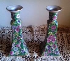 Két egyforma gyönyörű gyertyatartó 22 x 6 cm