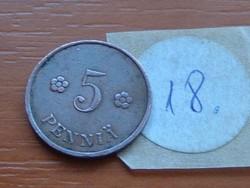 FINNORSZÁG 5 PENNIA 1938 18.
