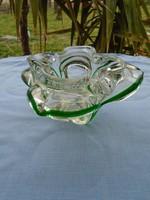 Skandináv művészi kristály üveg kosta .boda 1107 gram  17 x  12 x 16  cm