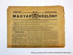 1945 december 23  /  MAGYAR KÖZLÖNY  /  Régi ÚJSÁGOK KÉPREGÉNYEK MAGAZINOK Szs.:  9018