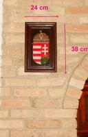 Magyar címer nagyon szép kerámia, keretben