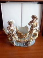 Antik német porcelán páros szobor