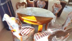 Antik Biedermeier szép állapotú étkezőgarnitúra
