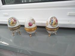 Porcelán, ékszertartó tojások