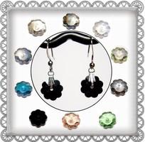 Cseh kristály margaréta fülbevaló több színben SFEB-16-3