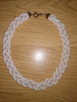 Antik népi stílusú üveggyöngy nyaklánc női gyöngy, gyöngyös lánc