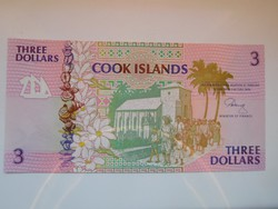 Cook-szigetek  3 dollár 1992 UNC