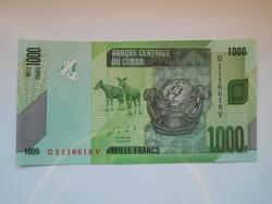 Kongói Dem Közt  1000 francs 2013 UNC