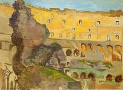 Ism festő,Colosseum,1911,vegyes technika