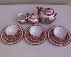 Kínai motívumos  porcelán teás-,kávéskészlet 12 db